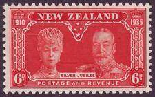 NEW ZEALAND 1936 SILVER JUBILEE 1/- ORANGE UNUSED (NO GUM) (A5805)