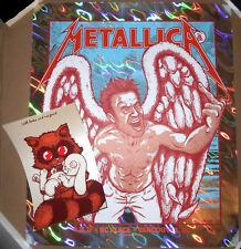 LAVA FOIL VARIANT Metallica 2017 Vancouver Print Poster Jermaine Rogers HANDBILL