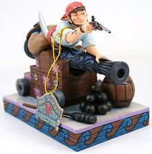"""New Disney D23 Pirates Of The Caribbean Jim Shore """"Pirate On Cannon"""" Figurine"""