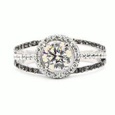 Fashion Jewelry 925 Silver White Topaz Proposal Wedding Couple Ring Size 6
