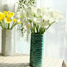 10pcs Artificial Latex Calla Lily Flowers Bouquet Garden Home Wedding Decoration