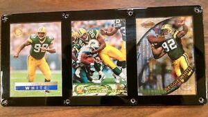 REGGIE WHITE 3 CARD PLAQUE GREEN BAY PACKERS HALL OF FAME