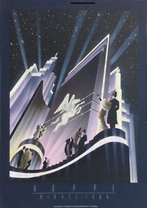 Robert HOPPE 1988 PEGASUS Horse Art Deco Lithograph Poster