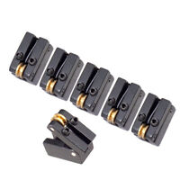 6x String Headless Guitar Bridge Tailpiece Roller Saddle Bridges Part