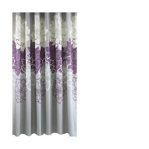 Gray Background and Flowers Pattern, Waterproof Washable Printed Polyester Fa...