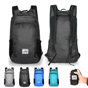 Ultraleicht 20L Wander Rucksäcke Faltbar Wasserdicht Reisetasche Camping Tasche~