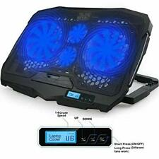 Laptop Cooler Cooling Pad Ultra Slim Portable 2 Quiet Big Fans With USB Line