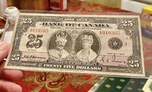 Bank Of Canada 1935 25$ Banknote VF-30 ULTRA RARE