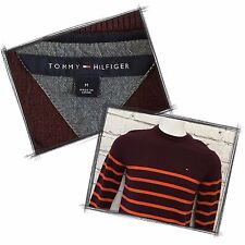 Tommy Hilfiger Men's Sweater Size M Burgundy with Orange Stripes fall winter