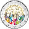 2 Euro Gedenkmünze Andorra 2018 coloriert / mit Farbe - Farbmünze Menschenrechte