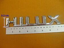 TOYOTA HILUX FORTUNER LOGO CAR BADGE EMBLEM CHROME STICKER 3D  (si)