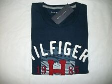 NEW TOMMY HILFIGER MEN'S SHORT SLEEVE NAVY BLUE GRAPHIC COTTON TEE SHIRT SIZE M