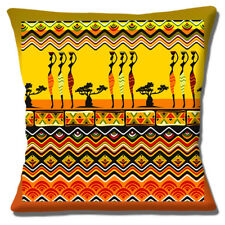 African Tribal Ladies Carrying Pots Cushion Cover Multicolour 16 inch 40cm