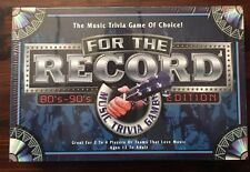 For the Record 80's 90's edition New. Sealed board game party Nineties Eighties