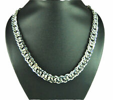 RF Statement Silver Plated Chain Necklace Pendant Jewelry