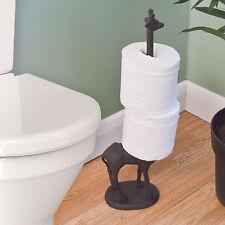 Metal Giraffe Toilet Roll Kitchen Tissue Free Standing Novelty Storage Holder
