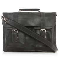 Women's Men's Large Genuine Satchel Messenger Briefcase Crossbody Vintage Bag