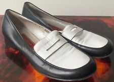 Vintage 1990s Cole Haan Two-tone Black And White Loafers Women's Sz 8B