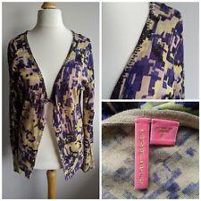 Anthropologie Charlotte Tarantola Silk Cashmere Blend Cardigan Size XL 12/14