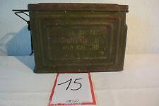 C15 Ancienne caisse à munition militaria WW1 WW2 soldat militaire
