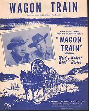 Wagon Train Television Theme 1957 Ward Bond Robert Horton Sheet Music Br Pub