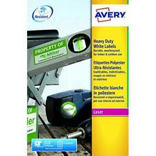 Avery L4778-20 Extra-Strong Adhesive Heavy Duty Weatherproof Labels, 48...