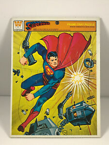 Vintage Superman Whitman Puzzle 1966 DC Comics BRIGHT! nice colors COMPLETE
