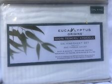 New White Eucalyptus Sheet Set Cal King Size 450 Thread Count