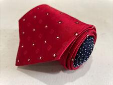 Tommy Hilfiger Men's Red Geometric Silk Neck Tie $98