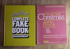 2 BK Performer's Complete Fake Book Piano Guitar Ultimate Christmas Fakebook