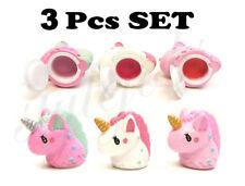 Scented Unicorn Lig Gloss Lip Balm 3 PCS SET