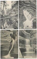 4 Watkins Glen Ny Postcards - Cascades & Falls - 1910's - 2 Acmegraph all B&W