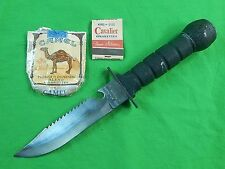 Vintage Set of Military Survival Fighting Knife Cigarette Pack Matches
