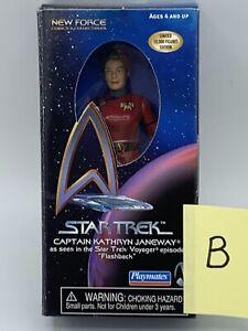 Playmates Star Trek Captain Janeway Flashback New Force Exclusive  Rare Figure