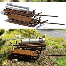 Busch 1631 - H0 - Kit Di Costruzione Due Carrello Di Trasporto