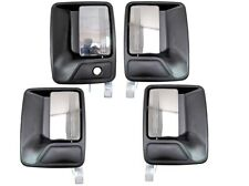 Exterior Outer Outside Door Handle Black Chrome Lever Front Rear Left Right Set