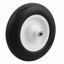 """13"""" 1PC Tire Flat Free 5/8"""" Wheelbarrow Carts Wagon Barrow Ribbed Tread Tubeless"""