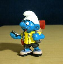 Smurfs 20474 Adventurer Smurf Hiker Backpack Vintage Hiking Figure PVC Figurine