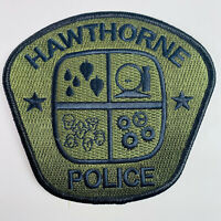 Hawthorne Police California CA Subdued OD Green Patch (C5)