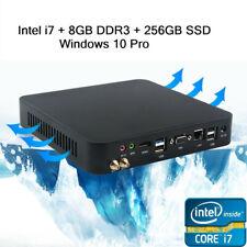 Gaming PC Computer Mini PC Windows 10 Pro Intel i7 3.0GHz 4 Threads 8G+256G SSD