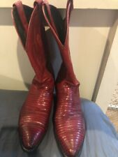WOMENS JUSTIN COWBOY RED BOOTS SIZE 8 B