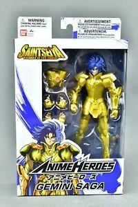 Saint Seiya Knights of the Zodiac Anime Heroes Gemini Saga Action Figure Bandai
