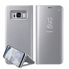 Nuevo Samsung Galaxy S7 S8+ S9 + espejo retrovisor inteligente funda base rebatible de cuero
