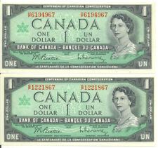 1867-1967 Canada Centennial of Canadian Confederation Lot of 2 Notes H/P G/P UNC
