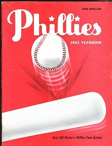 1963 Philadelphia Phillies Baseball Yearbook VGEX