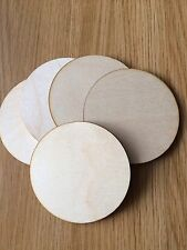 X5 Plain Wooden coasters, Shapes, Crafts,