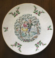 1977 Royal Doulton Victorian Christmas Skaters 1st edition Annual plate Orig box