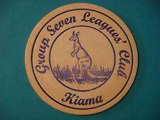 Beer Coaster ~*~ Group Seven Leagues' Club ~ Rugby Team ~ Kiama, NSW, AUSTRALIA