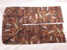 Wines Corks and Wine Openers on Brown Fleece Scarf for Winery Run