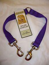 Formay 2 Way Nylon Dog Leash Coupler 1 Inch Purple 24 Inch  NEW